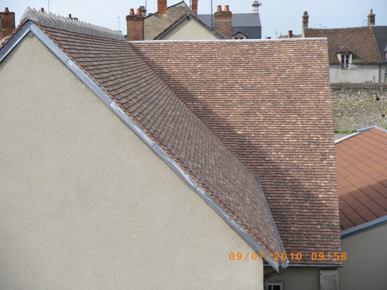 Couverture en tuiles plates - Tuile restauration brumaire ...